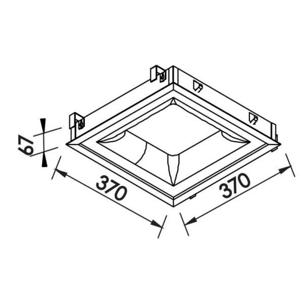 Desenho técnico embutido 471LED Newline