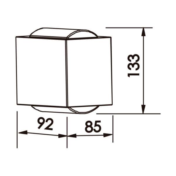 Desenho técnico arandela SNT022LED Newline